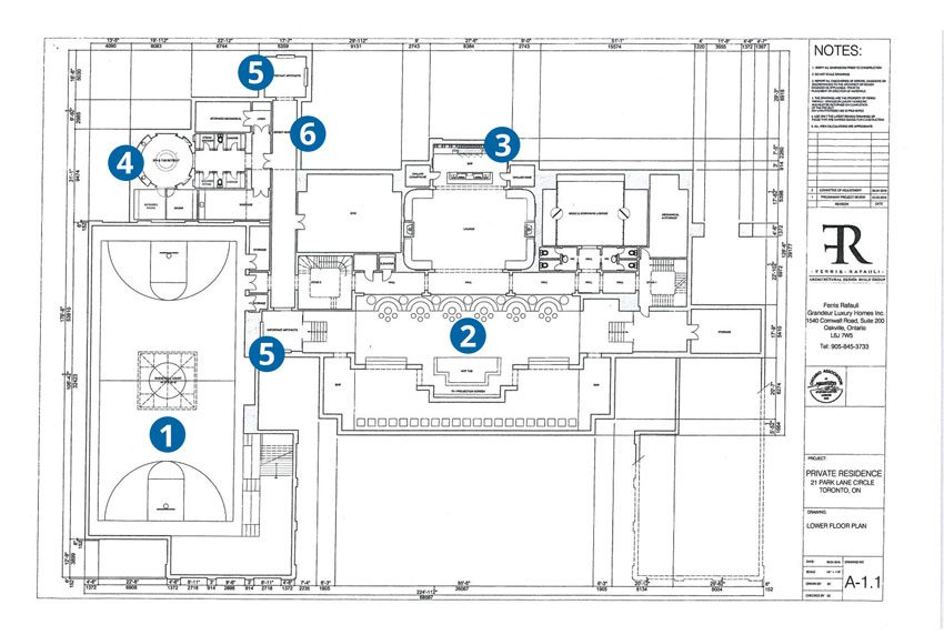 Home floor plans with basketball court for Basketball court plan