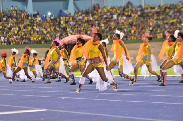 Jamaican Dancers performing at the Jamaica 55 Celebrations