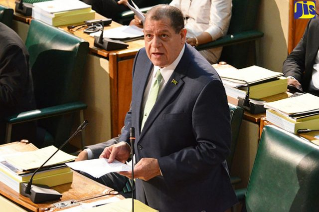 Minister of Finance and the Public Service, Hon. Audley Shaw, speaking in the House of Representatives on Thursday (February 9) after tabling the 2017-18 Estimates of Expenditure.