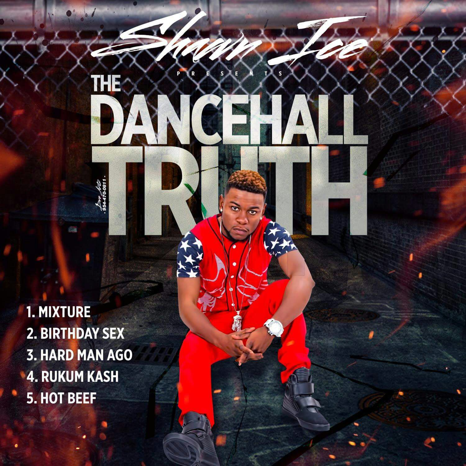 Album cover for dancehall artist Shawn Ice