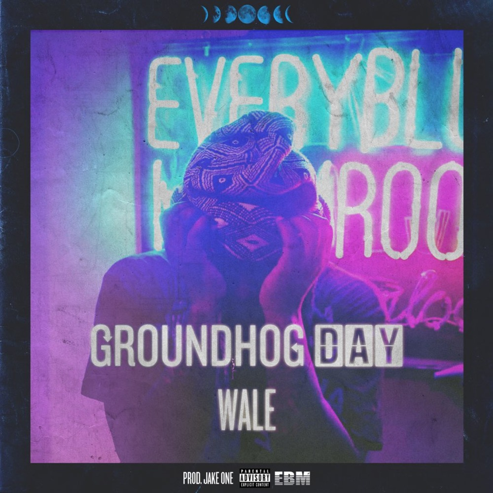 Album Cover for Wale – Groundhog Day. Man holding his face in his hands