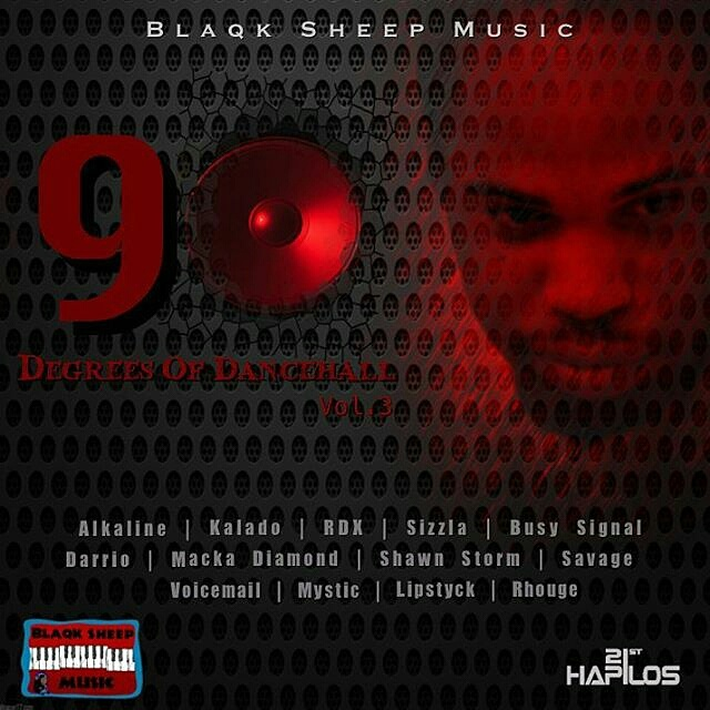"Album cover for Blaqk Sheep's ""90 Degrees of Dancehall"