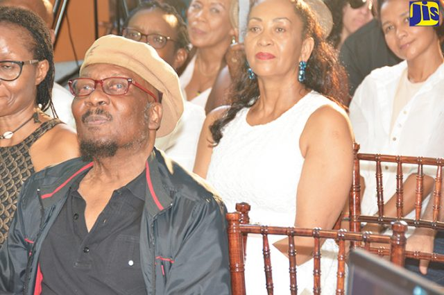 Reggae icon, Jimmy Cliff, listens attentively to the tributes at his IRIE FM Lifetime Achievement Awards ceremony
