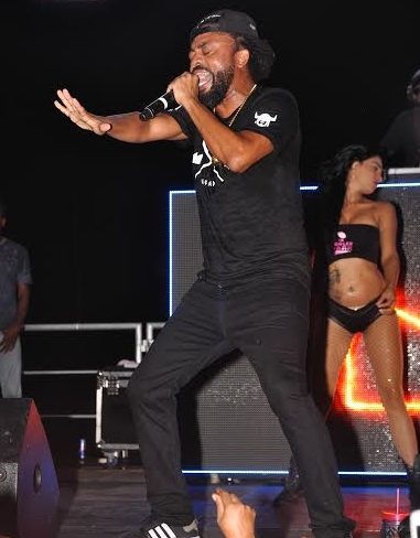 Soca King Machel Montano performing on stage
