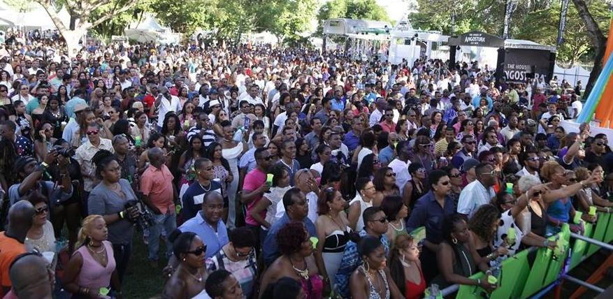 A crowd of people at the UWI fete
