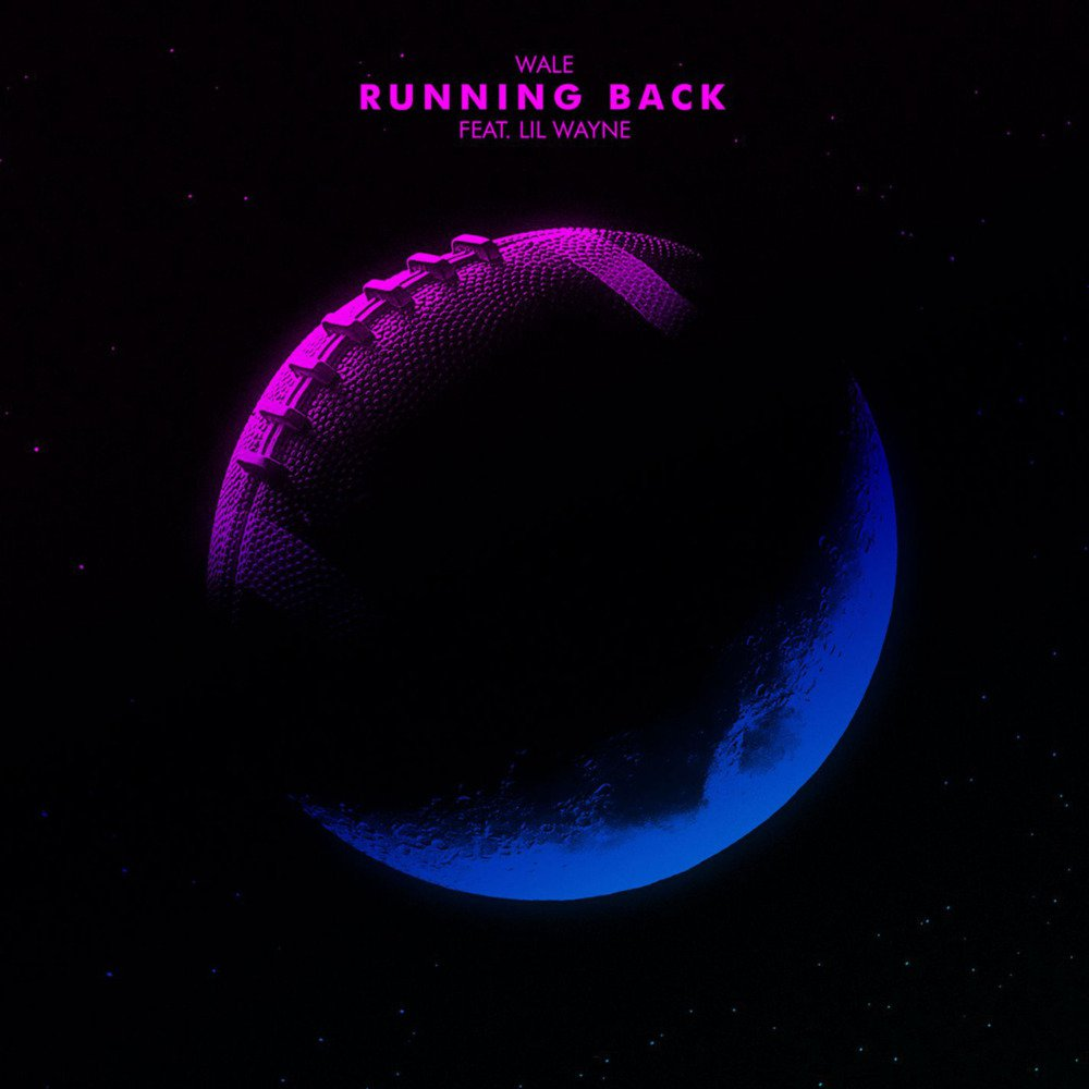 Album cover of a purple football for the new single 'Running Back' from Wale ft Lil Wayne