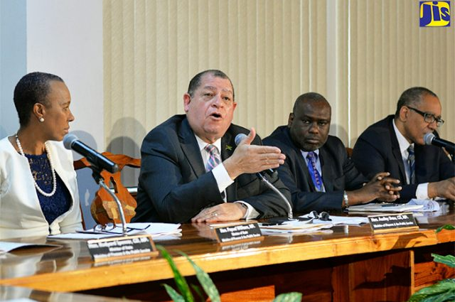 Finance and the Public Service Minister Audley Shaw emphasises budget for vulnerable persons