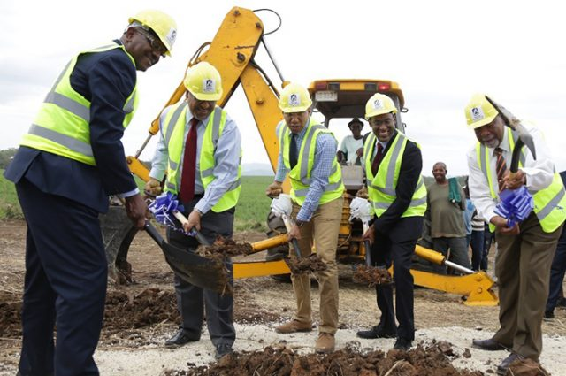 Prime Minister Andrew Holness broke ground for 106 serviced lots and units at Masemure Phase 2