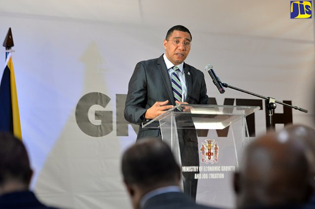Prime Minister Andrew Holness fields question about taxation