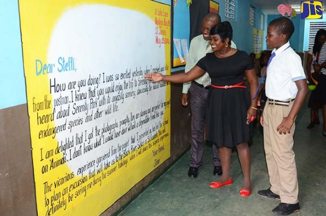 Reading teacher and Vice Principal, at the Mocho Primary and Infant School talks about a strong literacy programme