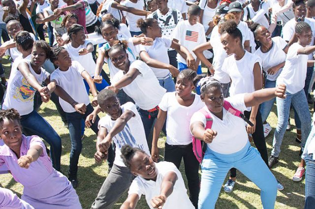 Students enjoying the recently held Healthy Youth Positive Energy (HYPE)