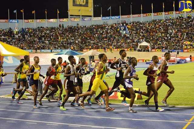 Students of high schools participate in a long-distance race at the ISSA Champs