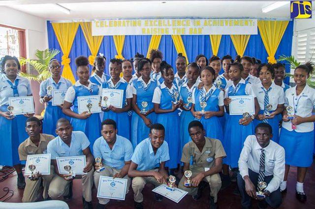Top achievers at the Bog Walk High School