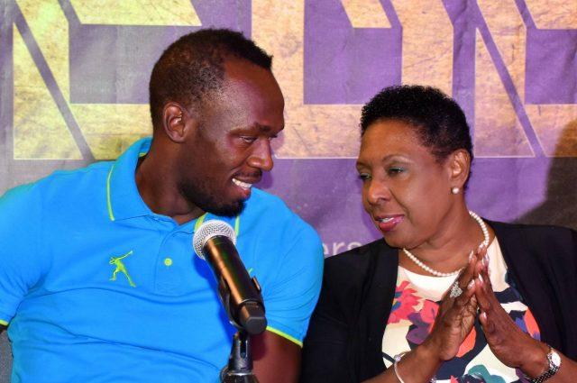 Usain Bolt doing an interview