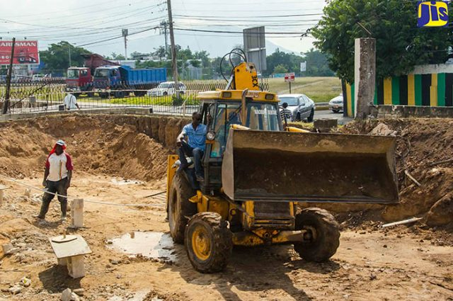 Work being undertaken by the National Works Agency (NWA) as part of the Barbican Road Improvement project