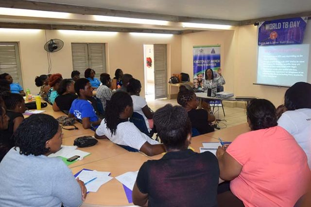 community participating in Tuberculosis training session