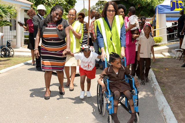 Children and workers at Stimulation- Plus Early Childhood Development Centre
