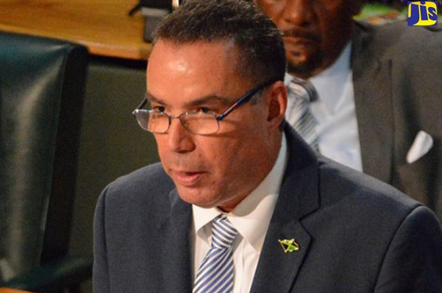 Daryl Vaz discussing redevelopment of downtown kingston