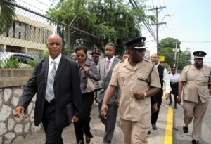 Police Commissioner-designate leads colleagues on a foot patrol