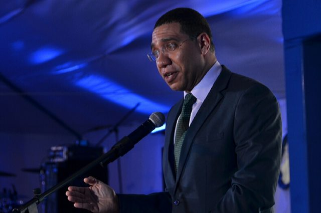 Prime Minister Holness discusing global energy index