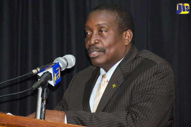 Minister of National Security discussing identity fraud