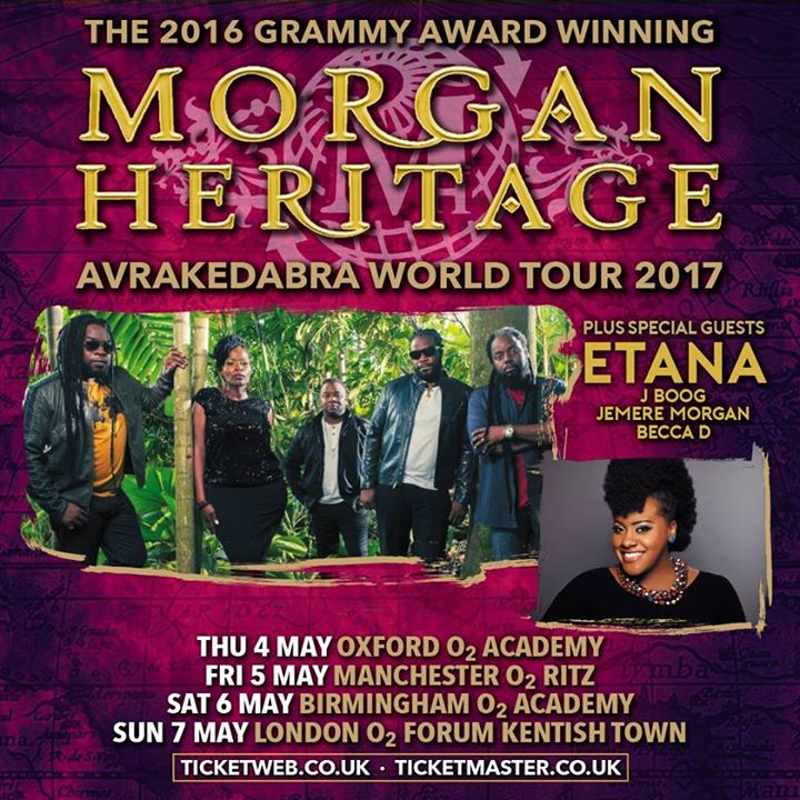 Morgan heritage world tour poster