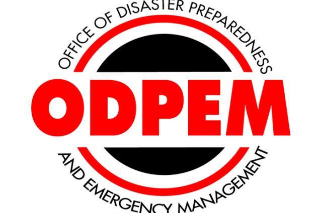 ODPEM flood warning sign