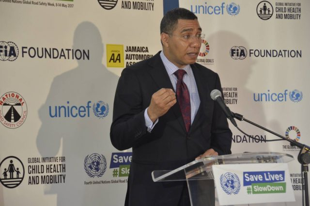 PM Holness urging motorists to slow down