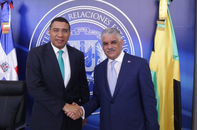 Prime Minister Andrew Holness and His Excellency Danilo Medina