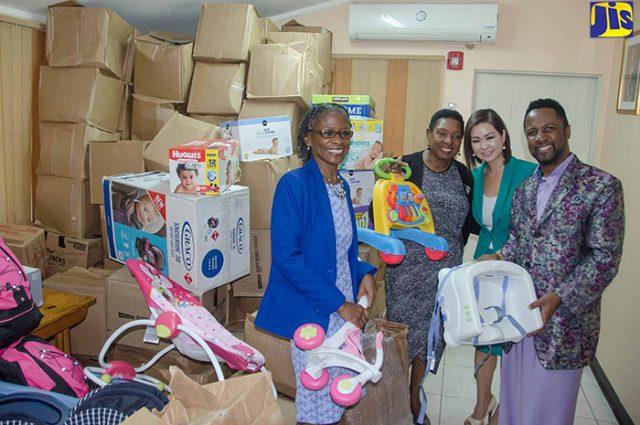 Women's Centre of Jamaica Foundation recieve donation of baby stuff