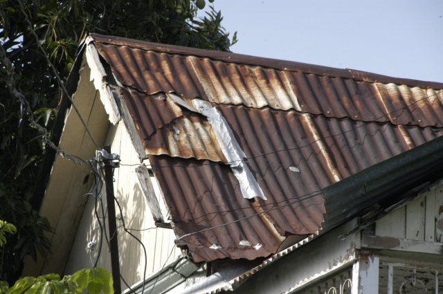 repairs on a roof for hurricane season