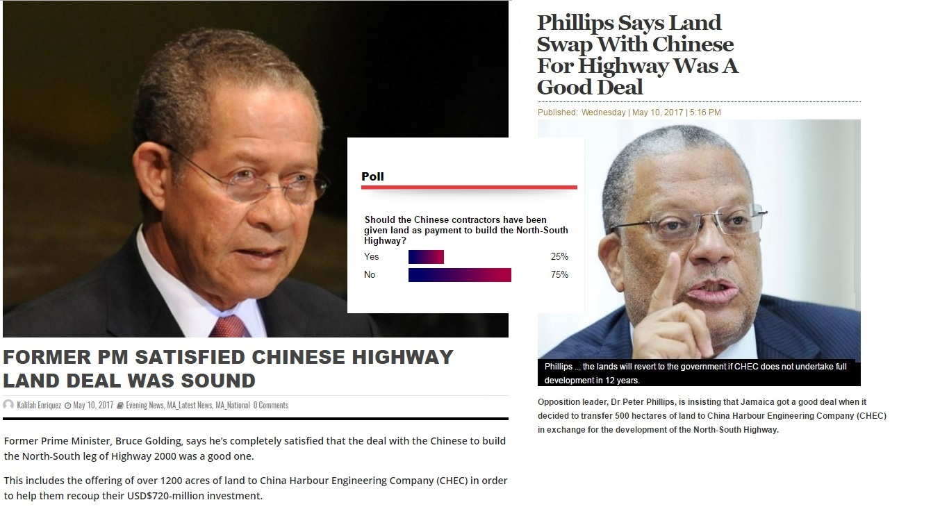 Chinese land deal compilation on voting done by vision newspaper Caribbean news
