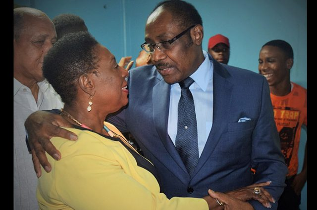 Captain Horace Burrell and The minister of culture captured by Vision Newspaper Caribbean news