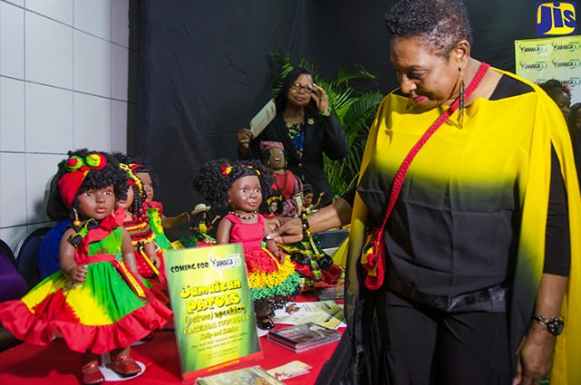 Minister of Culture at the Jamaica 55 celebration captured by Vision Newspaper Jamaican News