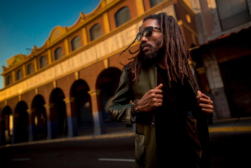 Kabaka posing for his album Pyramid for Vision newspaper Toronto