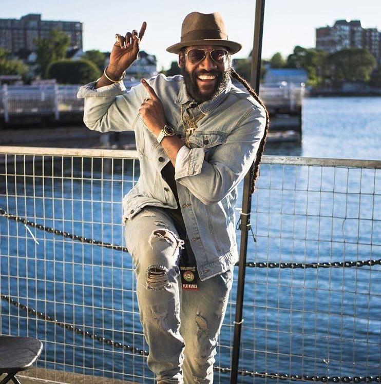 Tarrus Riley posing for Vision Newspaper Caribbean news