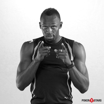 Usain Bolt announcing partnership with PokerStars