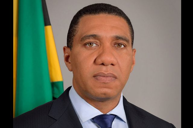 Andrew Holness mourning Captain Horace
