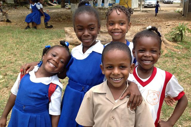 Kids at the mocho primary literacy fair captured by Vision Newspaper Jamaican News