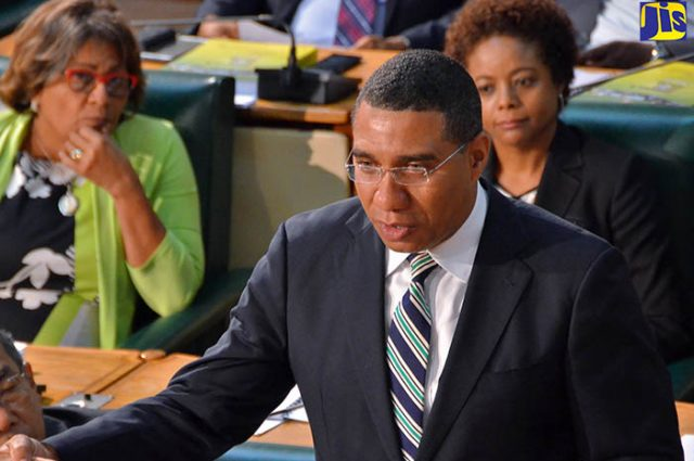 PM holness discussing National Identification System to Vision Newspaper Jamaican news