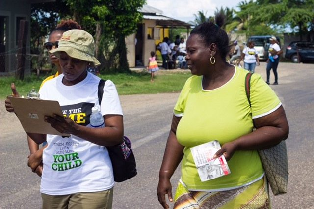 two ladies from the parent mentorship program captured by Vision Newspaper Caribbean news