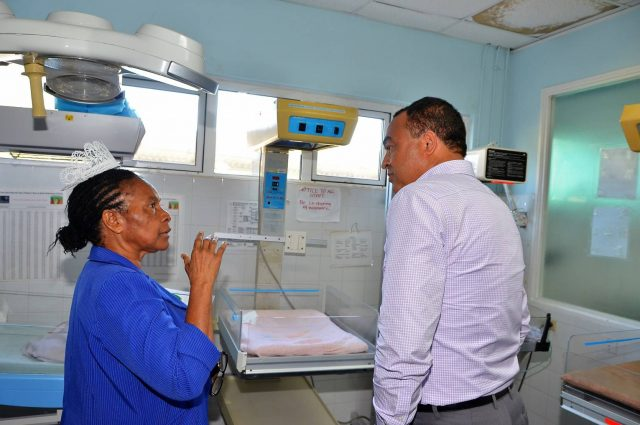 Minister of health on a tour of Spanish town hospital captured by Vision newspaper Caribbean news