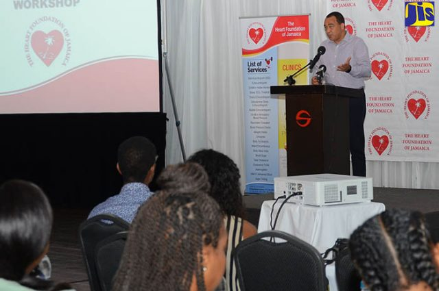 Christopher Tufton discussing prescreening student athletes