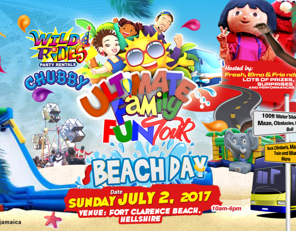Wildrides family beach day poster show by Vision Newspaper Jamaican News