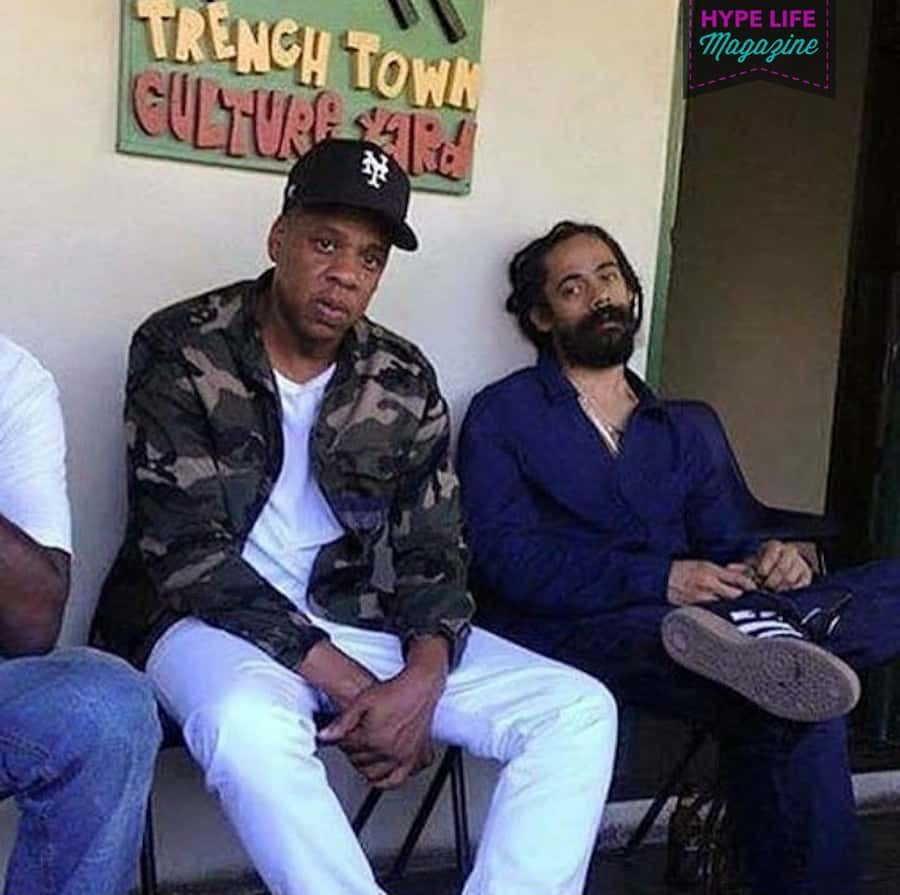 Photo: Rapper Jay-Z with Reggae Recording Artist Damian Marley