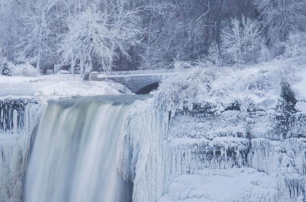 Perspective Niagara Falls Frozen Over Vision Newspaper