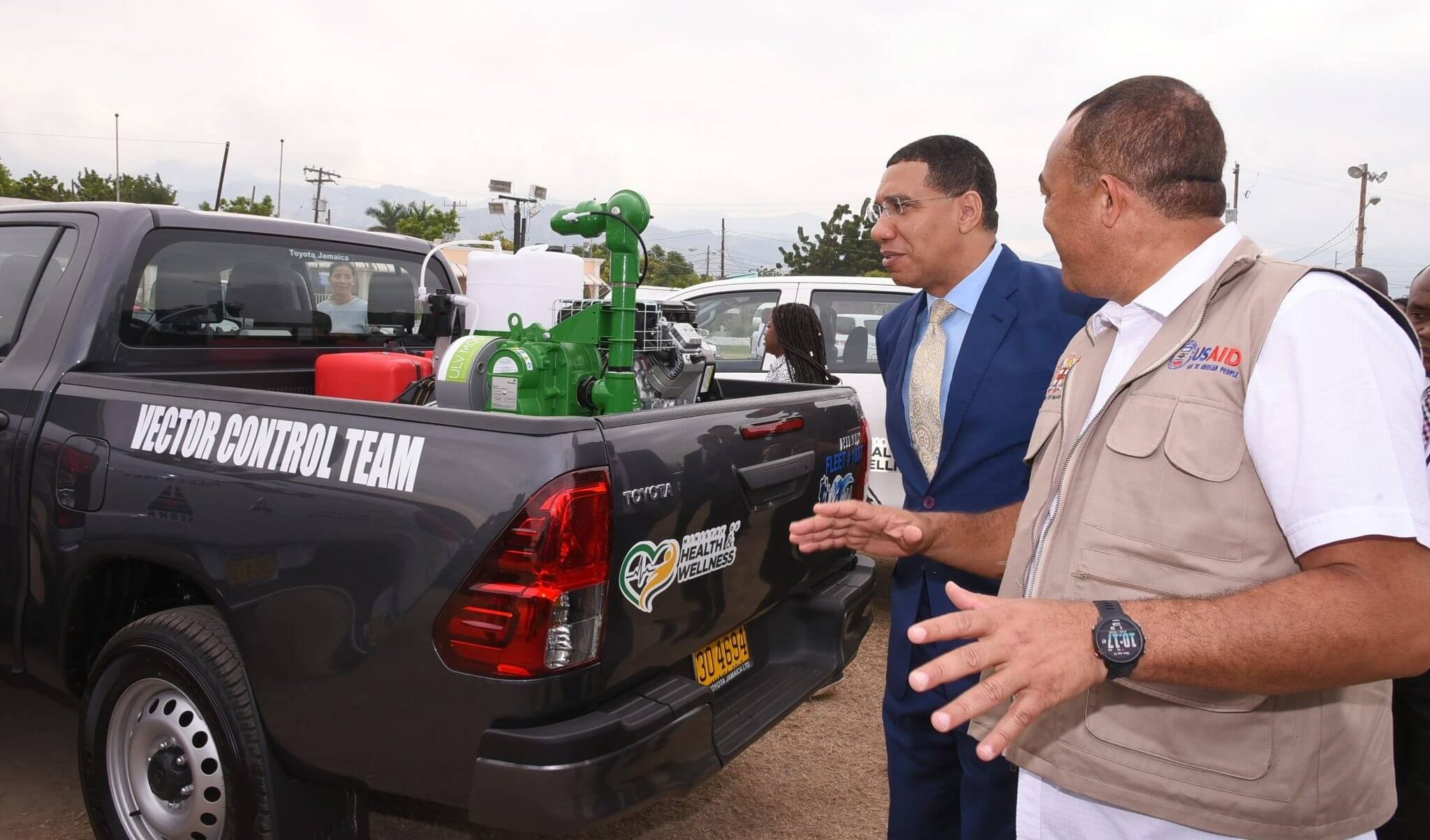 Prime Minister, the Most Hon. Andrew Holness (left), and Minister of Health and Wellness, Dr. the Hon. Christopher Tufton.